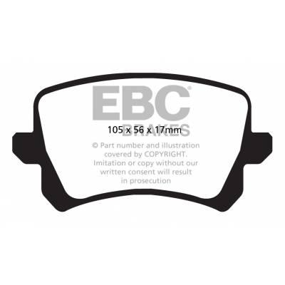 EBC колодки тормозные  DPX2004
