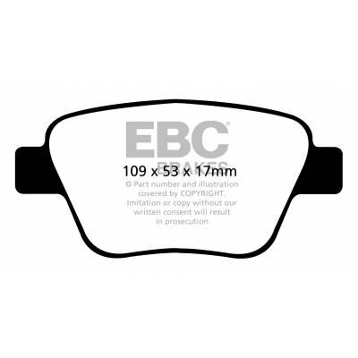 EBC Ultimax задние тормозные колодки для Audi A3 (8p)/Octavia (a5)/Yeti/Golf 5-6/Scirocco/Leon (1p) (for 272mm disk)