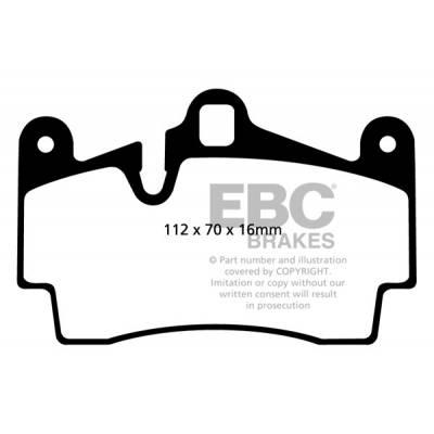 EBC GreenStuff задние тормозные колодки для Porsche Cayenne / VW Touareg/ Audi Q7 (330-358mm disc)