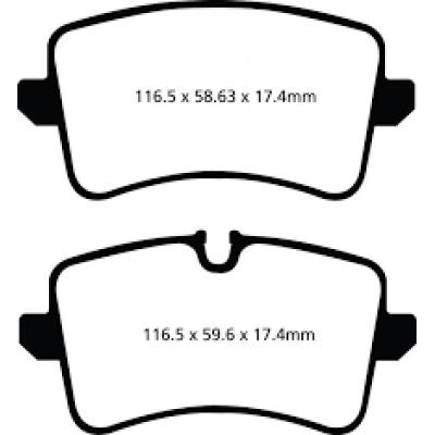 EBC Yellowstuff задние тормозные колодки для Audi S4/S5/A6/A7/RS5/RS6/RS7/Porsche Macan (под 300-356мм диск) (2013+)