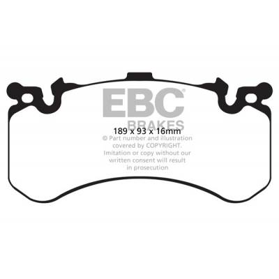 EBC Yellowstuff Передние тормозные колодки для Audi RS7/S6/S7/S8 (2010+) (под 390-400мм диск)