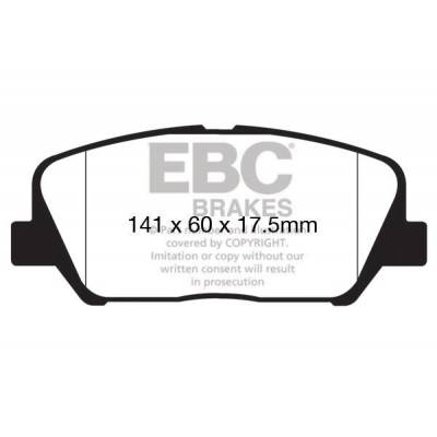 EBC Yellowstuff передние тормозные колодки для Kia Ceed/Optima (for 300mm disk)