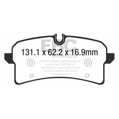 EBC Yellowstuff задние тормозные колодки для Audi RS7 (c7)/Porsche Macan (под 356мм диск)