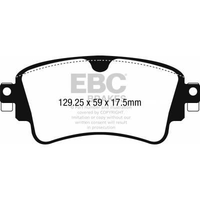 EBC Greenstuff задние тормозные колодки Audi Q7 (4M)/A4/A5 (B9)/Q5 (под 330/330мм диск)