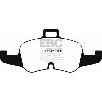 EBC Yellowstuff Передние тормозные колодки для Audi TTS (8S) (под 340мм торм диск)