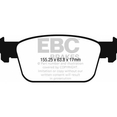 EBC Greenstuff передние тормозные колодки для AUDI A4/A5 (B9) (под 314мм диск)