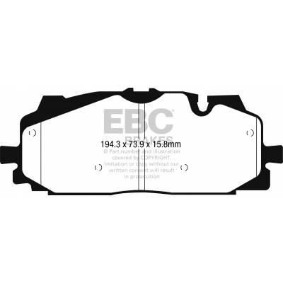 EBC Bluestuff передние тормозные колодки Audi Q7/Q8/S4/RS4/S5/RS5/SQ5/A6/A7/A8/Touareg mk3 (4m/b9/8y/c8/d5) (под 350-375мм диск)