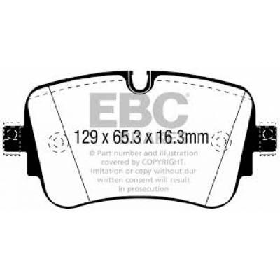 EBC Yellowstuff задние тормозные колодки Audi Q7/SQ7/Q8/E-tron (4M) (под 350мм диск)