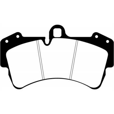 EBC Bluestuff передние тормозные колодки для Porsche Cayenne (03-09)/ VW Touareg/Audi Q7 (350mm disc)