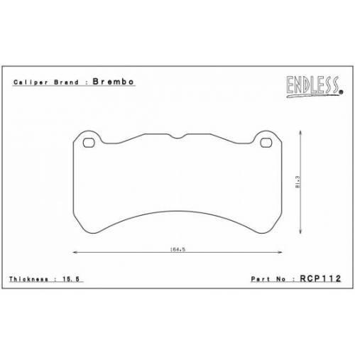 ENDLESS ME20 передние тормозные колодки для SUBARU WRX STI 2018+/RA-R (Brembo 6-pot)