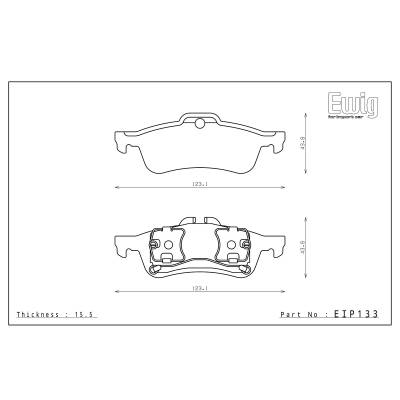 ENDLESS ME20 задние тормозные колодки Mini Cooper S (R50/R53)/Turbo Works GP (R56) (под 259мм диск)
