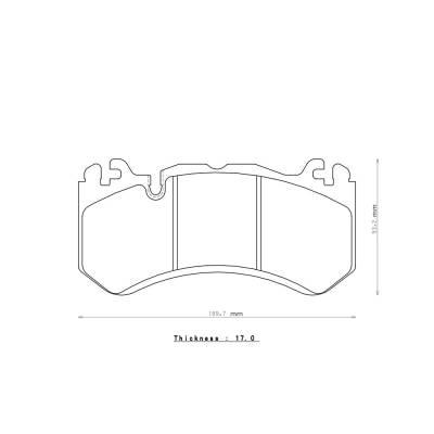 ENDLESS ME20 передние тормозные колодки для Audi RS6/RS7 (C6/C7)/ E63/C63/ML63/SL63/G63/AMG GT