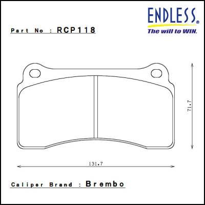 ENDLESS  CCRg   задние  тормозные колодки  (17.5mm)  для NISSAN GT-R R35/ Audi R8