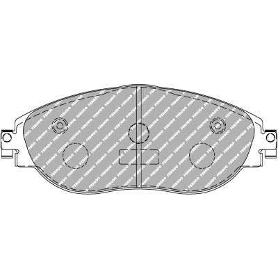 FERODO DS2500 передние тормозные колодки для VW Golf 7R/GTi/ Audi S3 (8V)/  Skoda Octavia RS (2012+)