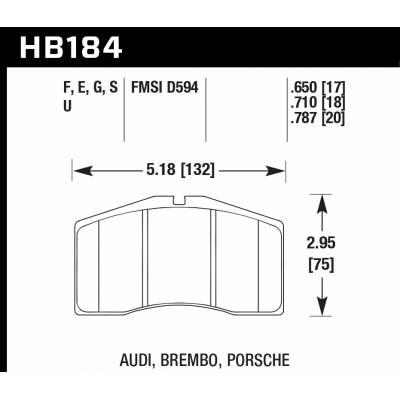 HAWK HPS тормозные колодки для суппортов Alcon /Brembo/Porsche