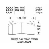 HAWK HPS Задние тормозные колодки для Nissan GT-R R35 / AUDI R8 / Gallardo/ Murcielago