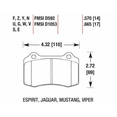 HAWK HPS  задние тормозные колодки  для ASTON MARTIN DB9/VANTAGE/ RAPIDE