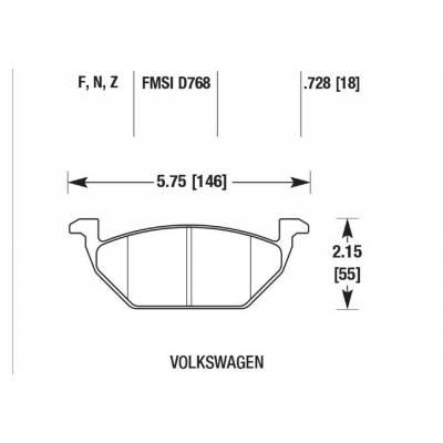 Brannor Передние тормозные колодки для Skoda Octavia A7/Leon 5F/Arona/Golf 7/Polo (aw)/Audi A1 (gb) (под 276мм диск)