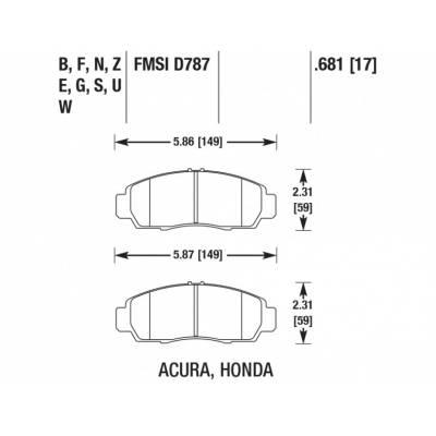HAWK HP Plus передние тормозные колодки для Honda Civic/Accord/Acura TSX (12-14)