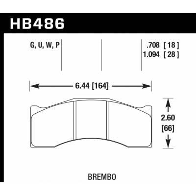 HAWK SuperDuty тормозные колодки под Brembo/Rotora 6 поршн
