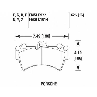 Hawk HP Plus передние тормозные колодки для Porsche Cayenne (03-09)/ VW Touareg/Audi Q7 (350mm disc)