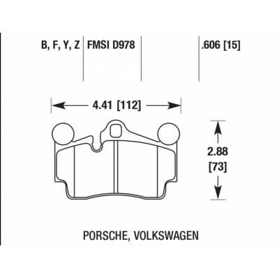 HAWK PC задние тормозные колодки для Porsche Cayenne (03-09)/ VW Touareg/Audi Q7