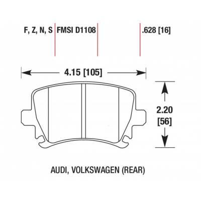 HAWK HP+ задние тормозные колодки для VW Golf 5-6 GTi/ AUDI RS3/ S3/ SKODA/ SEAT (310мм диск)