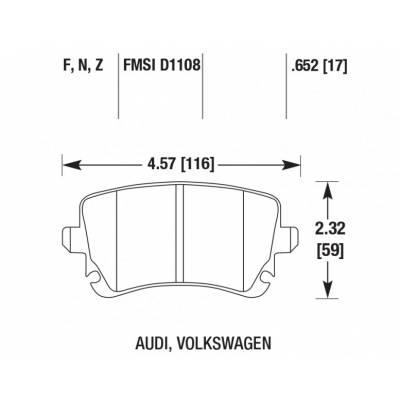 Brannor задние тормозные колодки для Audi S6/A6 (C5/C6)/S8/A8/Phaeton/Multivan (15+)