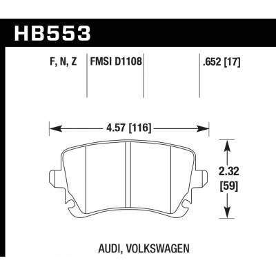 HAWK HPS задние тормозные колодки для Audi S4/RS4/RS6/S6/A6 (C5/C6)/S8/A8/Phaeton