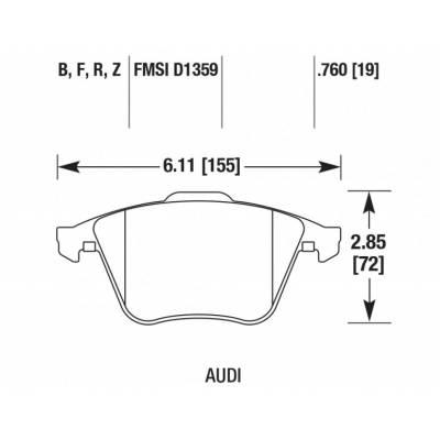 HAWK HP Plus передние тормозные колодки для VW Golf 5-6R/Scirocco R/Passat/Audi A3 (8p)/Leon Cupra R (for 345mm disk)