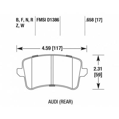 HAWK HP Plus Задние Тормозные колодки для AUDI S4/S5/A4/A5  (под 300-330мм диск)