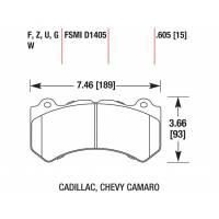 HAWK HPS передние тормозные колодки Chevrolet Camaro 6.2/ Grand Cherokee (WK2)SRT8/Cadillac СTS/Audi RS6 C6