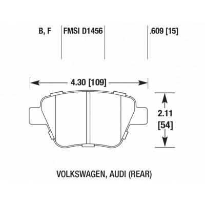 HAWK HPS задние тормозные колодки для Audi A3 (8p)/Octavia (a5)/Yeti/Golf 5-6/Scirocco/Leon (1p) (for 272mm disk)