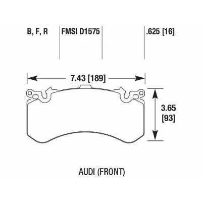 HAWK HP Plus Передние тормозные колодки для Audi RS7/S6/S7/S8 (2010+) (под 390-400мм диск)