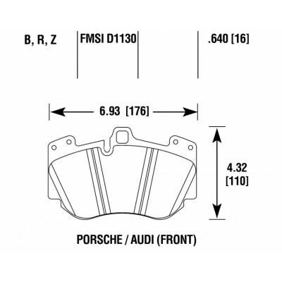HAWK HPS 5.0 Передние тормозные колодки для Porsche Cayenne Turbo/Turbo S/Audi A8/Murcielago (2005-2010) (под 380мм диск)