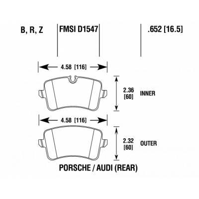 HAWK HPS 5.0  задние тормозные колодки для Audi RS5/RS6/RS7/Porsche Macan (2013+)
