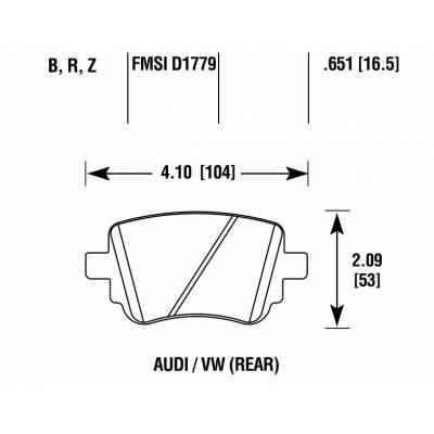 HAWK HPS 5.0 задние тормозные колодки для Skoda Octavia A7/Leon 5F/Audi Q3 (2012+)