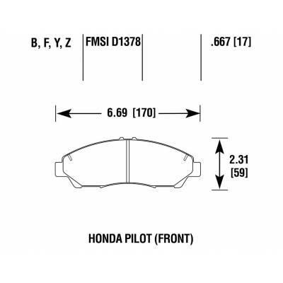 HAWK LTS передние тормозные колодки для Honda Pilot/Acura MDX (mk2-3)/ZDX