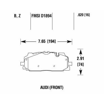 Hawk PC передние тормозные колодки Audi Q7/Q8/S4/RS4/S5/RS5/SQ5/A6/A7/A8/Touareg mk3 (4m/b9/8y/c8/d5) (под 350-375мм диск)