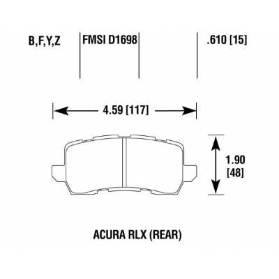 BRANNOR задние тормозные колодки для Acura MDX (mk3) EU-US/TLX