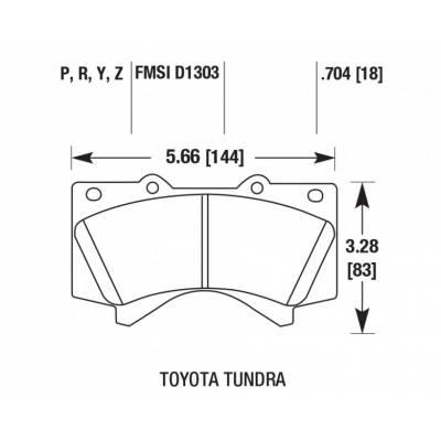 HAWK SD передние тормозные колодки для LEXUS Lx570/Lx450d/Toyota Land Cruiser 200/ Sequoia /Tundra