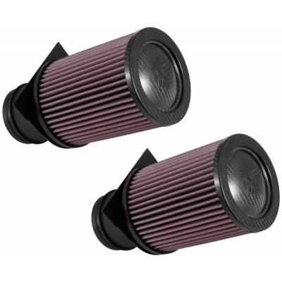 K&N Воздушный фильтр в штатное место (2шт) для Audi R8/Lamborghini Huracan 5.2L V10