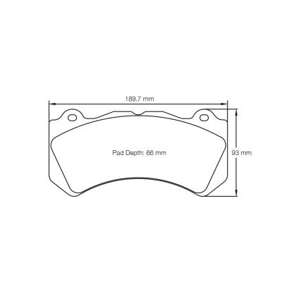PAGID RSC1 Передние тормозные колодки для NISSAN GTR R35/Mercedes C63/CLK63 AMG Black Series (под керамические торм диски)