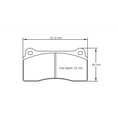 PAGID 1287-RSL1 Тормозные колодки RSL1 зад NISSAN GT-R R35AUDI R8LAMBORGINI GALLARDO