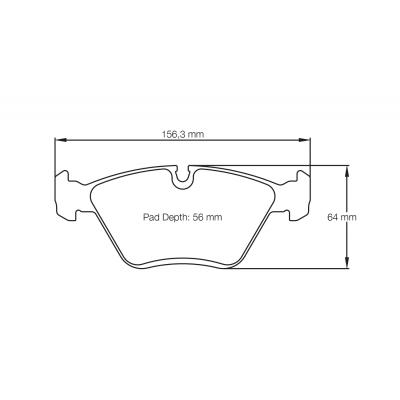 PAGID RSL29 передние тормозные колодки для Bmw M3/M5/Z3M/Z4M (E36/E46/E34/E85/E86/E32)