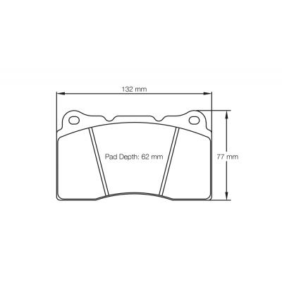 PAGID RST1 Передние тормозные колодки для Subaru STi/ Mitsubishi Evo/Renault Megane RS/ Opel Astra J OPC (Brembo 4-pot)