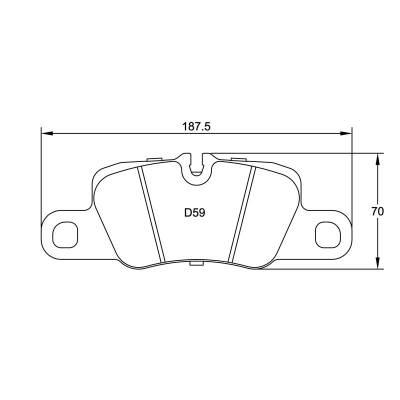 PAGID RSL29 задние тормозные колодки для Porsche Panamera mk1/mk2/Carrera (991/992)