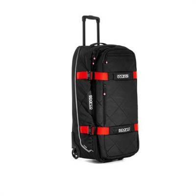 SPARCO 016437NRRS Сумка для экипировки TOUR TROLLEY. чёрный/красный. 4.7 кг. 40x84x38 см