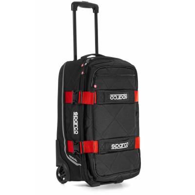SPARCO 016438NRRS Сумка для экипировки TRAVEL. 3 кг. 25x55x35 см. чёрный/красный