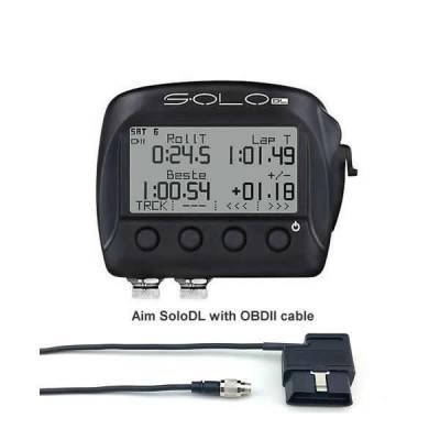 AIM SOLO DL Лаптаймер  c GPS  (ECU с интерфейсом OBD2)